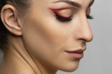 woman with makeup on